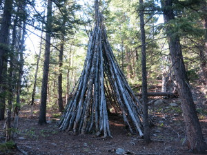 One of many teepees I see on the trail.