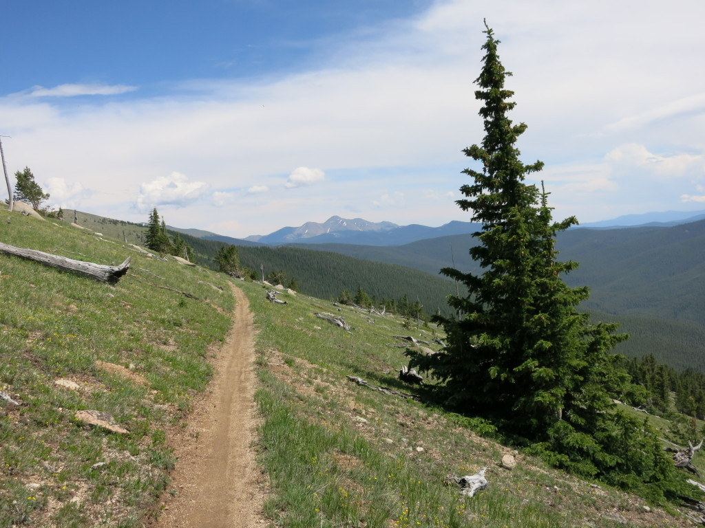 Good trail and open terrain
