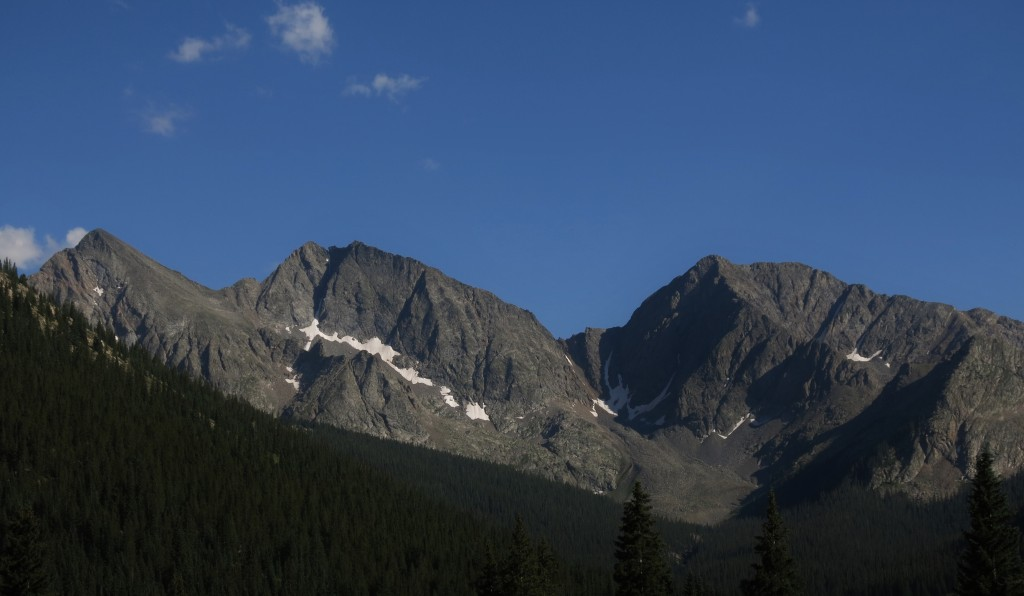 The Three Apostles on the Collegiate West portion of the Colorado Trail